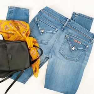 Hudson Collin flap pocket skinny jeans curt wash